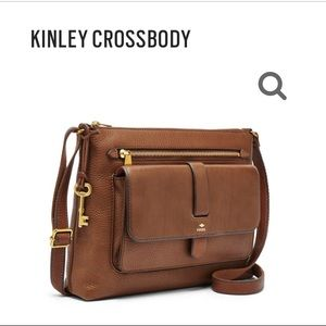 Fossil Kinley Large Crossbody Brown Leather Bag